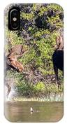 Bull Moose Defends His Territory IPhone Case