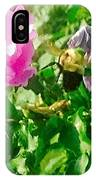 Bumble Bee In Mid Flight IPhone Case