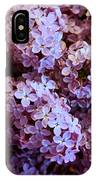 Bunch Of Lilacs IPhone Case