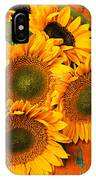 Bunch Of Sunflowers IPhone Case by Garry Gay