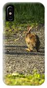 Bunny Eating On The Run IPhone Case