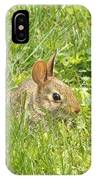 Bunny In The Grass IPhone Case