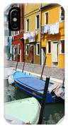 Burano Corner With Laundry IPhone Case