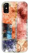 Burano Italy Digital Watercolor On Photograph IPhone Case