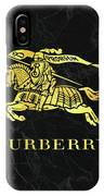 Burberry - Black And Gold - Lifestyle And Fashion IPhone Case
