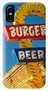Burgers And Beer IPhone Case