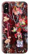 Burgundy Succulents. Multi Color Beauty IPhone Case