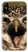 Burrowing Owl Eye To Eye IPhone Case