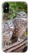Burrowing Owl Pair  IPhone Case