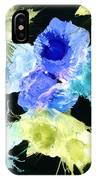 Bursting Comets 2017 - Blue And Green On Black IPhone Case