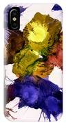 Bursting Comets 2017 - Yellow And Purple On White IPhone Case
