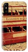 Buses Of Vintage England IPhone Case