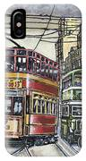 Buses Trams Trolleys IPhone Case