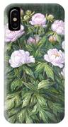 Bush Of Pink Peonies IPhone Case