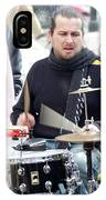 Busking Drummer IPhone Case
