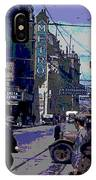 Busy  City Street IPhone Case