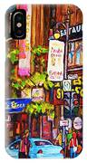 Busy Downtown Street IPhone Case