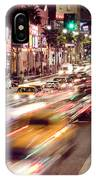 Busy Hollywood Boulevard At Night IPhone Case by Bryan Mullennix