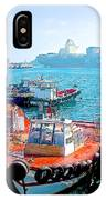 Busy Port Of Valparaiso-chile IPhone Case