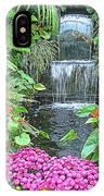 Butchart Gardens Waterfall IPhone Case