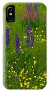 Buttercups And Lupines IPhone Case
