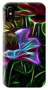 Butterflies And Flowers IIi IPhone Case