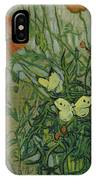 Butterflies And Poppies, 1890.  IPhone Case