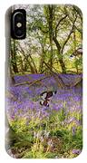 Butterflies In A Bluebell Woodland IPhone Case