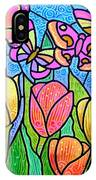 Butterflies In The Tulip Garden IPhone Case