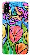 Butterflies In The Tulip Garden IPhone Case