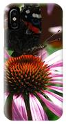 Butterfly And Pink Cone Flower IPhone Case