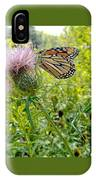Butterfly And Pink Wildflower IPhone Case