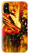 Butterfly Atop Flower Arrangement IPhone Case
