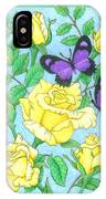 Butterfly Idyll-roses IPhone Case