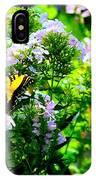 Butterfly In A Garden IPhone Case