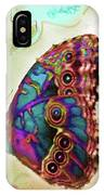 Butterfly In Beige And Teal IPhone Case