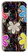 Butterfly Look Graphic Flowers Colorful  Art For A Cheerful Smiling Mood Great For Kids Room Party R IPhone Case