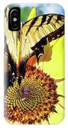 Butterfly Meets Sunflower IPhone Case