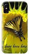 Butterfly Monarch Ba IPhone Case
