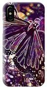 Butterfly Monarch Flower  IPhone Case