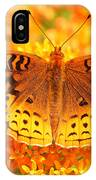 Butterfly On Butterfly Weed IPhone Case