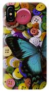 Butterfly On Buttons IPhone Case
