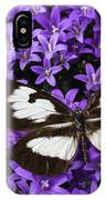 Butterfly On Campanula Get Mee IPhone Case