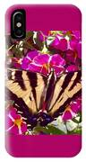 Swallowtail Butterfly Pink IPhone Case
