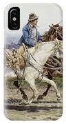 Buttero Riding In The Roman Campagna IPhone Case