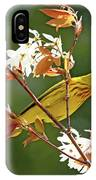 Buttery Yellow Warbler IPhone Case