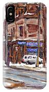 Buy Original Paintings Montreal Petits Formats A Vendre Scenes De Pointe St Charles Cspandau Artist IPhone Case
