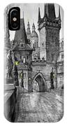 Bw Prague Charles Bridge 02 IPhone Case