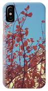 By The Autumn Tree 2 IPhone Case