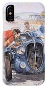 c 1949 the delahaye 135 s driven by giraud and gabantous Roy Rob IPhone Case